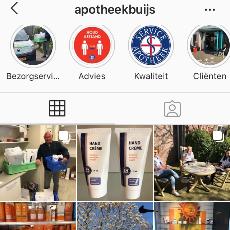 Apotheek Buijs op Facebook en Instagram
