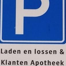 Parkeerplek voor onze klanten!